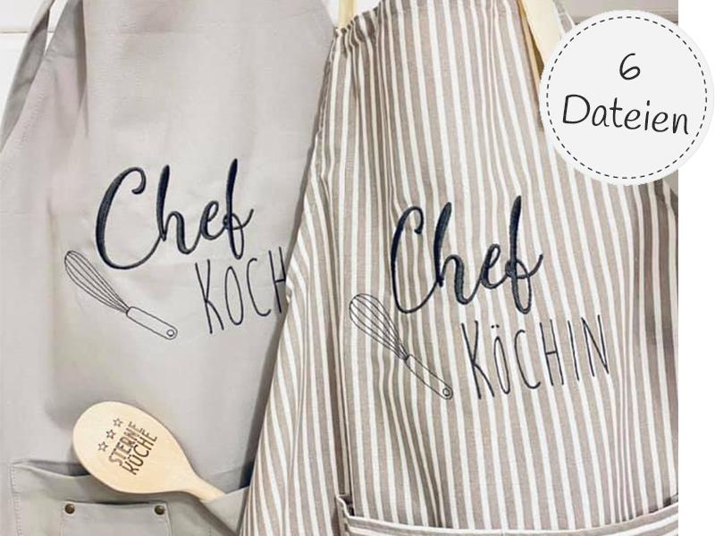 Stickdatei - Chef Koch/Köchin